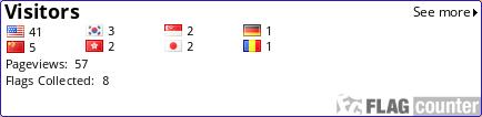http://s10.flagcounter.com/count/ijMz/bg_FFFFFF/txt_000000/border_2D1EB3/columns_6/maxflags_60/viewers_0/labels_0/pageviews_1/flags_1/