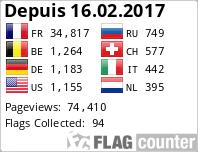 Visiteurs de Bretagne Webcams depuis le 16.02.2017 avec Flag Counter